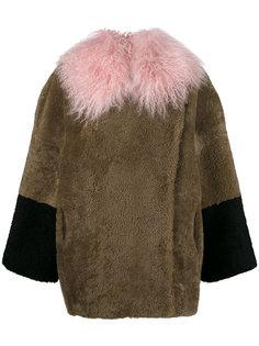 пальто колор блок  Saks Potts
