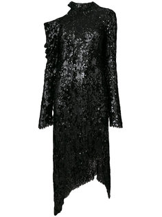 украшенное пайетками асимметричное платье Magda Butrym