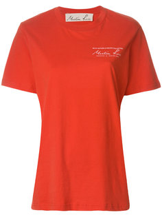 футболка с принтом на груди Martine Rose