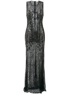 кружевное платье с отделкой цепочками  Amen Amen.