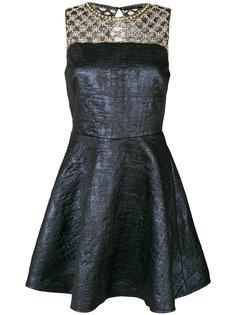 расклешенное платье с бисерной отделкой  Amen Amen.