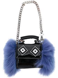 маленькая сумка-тоут с отделкой мехом норки Les Petits Joueurs