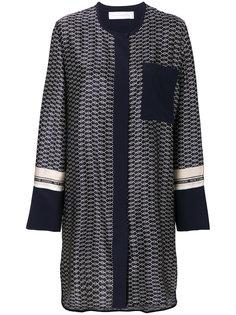 платье-рубашка с принтом Victoria Victoria Beckham