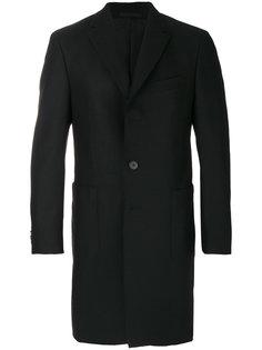 классическое однобортное пальто Z Zegna