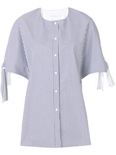 блузка в полоску с завязками на рукавах Victoria Victoria Beckham