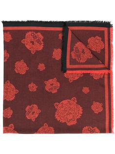 шарф с принтом тигров Kenzo