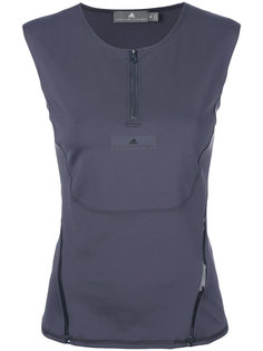 топ на молнии без рукавов с логотипом  Adidas By Stella Mccartney
