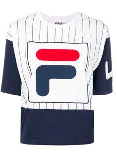 укороченная футболка с логотипом  Fila