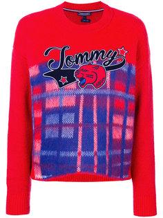 свитер в клетку с логотипом  Tommy Hilfiger