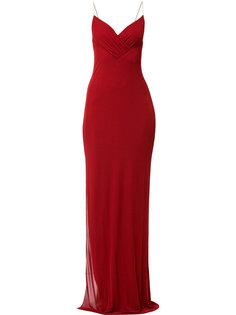 платье с разрезом сбоку  Balmain