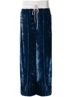 бархатные брюки  Off-White
