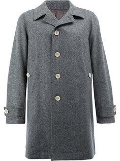 однобортное пальто с цветочной панелью Undercover