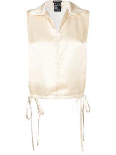рубашка с завязкой  Ann Demeulemeester