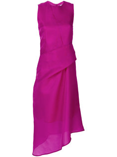 асимметричное платье со сборкой на талии Christian Wijnants
