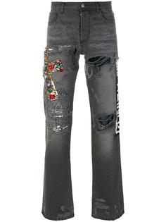 джинсы с цветочной вышивкой Faith Connexion