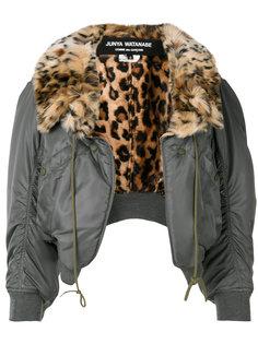 куртка бомбер с леопардовым воротником Junya Watanabe Comme Des Garçons