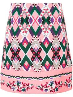 приталенная юбка с вышивкой  Vivetta