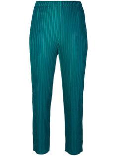 укороченные брюки в рубчик  Pleats Please By Issey Miyake