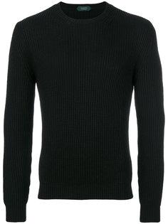 ребристый свитер с круглым вырезом Zanone