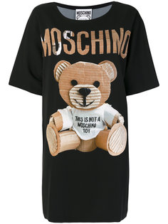 платье-футболка с медведем  Moschino