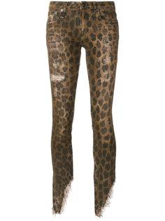 джинсы с леопардовым принтом  R13
