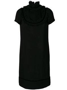 платье с плиссировкой на воротнике  Dsquared2