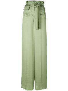 широкие брюки с поясом  Valentino