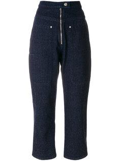 укороченные джинсы с высокой талией Isabel Marant