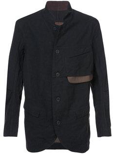 пиджак без воротника Ziggy Chen