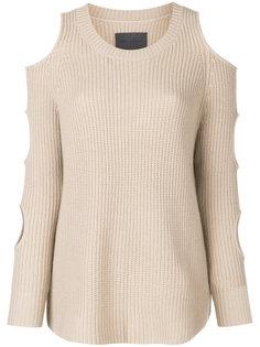 пуловер с разрезами на рукавах Zoe Jordan