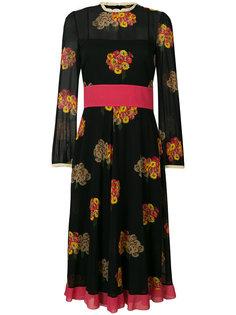 платье миди с цветочным принтом  Red Valentino