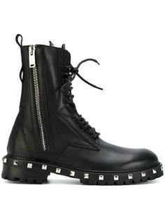 армейские ботинки с заклепками Les Hommes