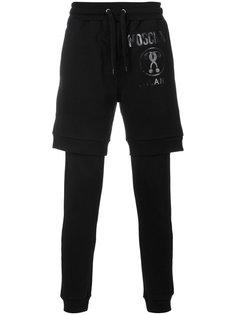 многослойные спортивные брюки Moschino
