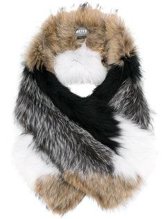 объемный шарф из лисьего меха Meteo By Yves Salomon
