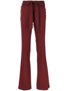 расклешенные брюки с поясом Victoria Beckham