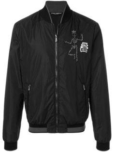 куртка-бомбер с заплаткой с черепом Dolce & Gabbana
