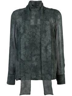 прозрачная блузка с потертой отделкой Akris