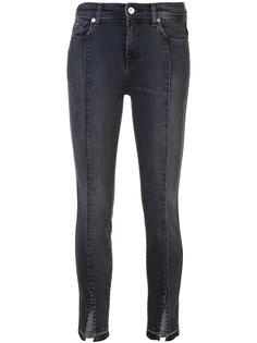 джинсы скиннис шлицами 7 For All Mankind
