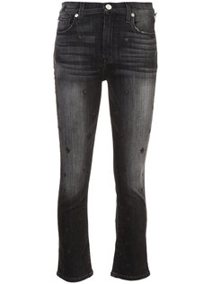 расклешенные укороченные джинсы с завышенной талией Hudson
