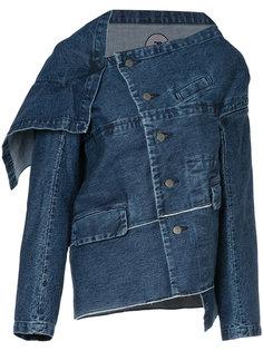 джинсовая куртка асимметричного кроя Anrealage