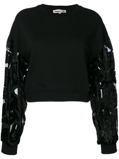 укороченный пуловер с полупрозрачными рукавами McQ Alexander McQueen
