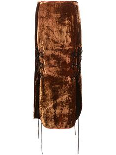 юбка с шлицей на шнуровке  Ellery