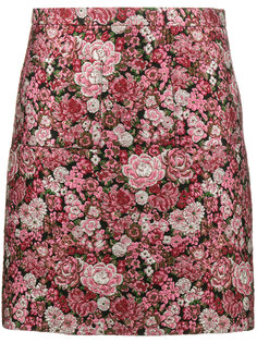 юбка с цветочным узором Adam Lippes