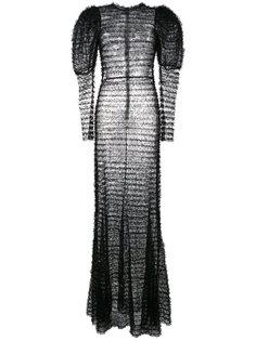кружевное платье с объемными плечами  Alessandra Rich