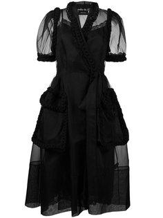 платье с запахом из тюля  Simone Rocha