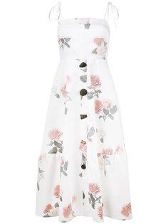 платье-миди с принтом роз Maria Rejina Pyo
