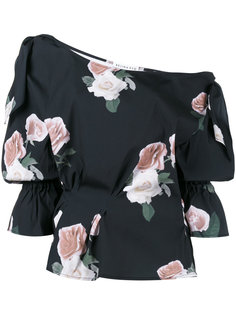 блузка на одно плечо с цветочным рисунком Rejina Pyo