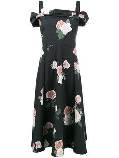 платье-миди с открытыми плечами Rejina Pyo