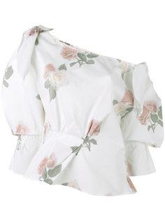 топ с открытыми плечами и цветочным принтом Michelle Rejina Pyo