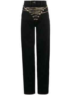 джинсы с высокой талией с цепочкой  Y / Project